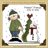 Freezin' Friends Single Clip Art Graphic Download