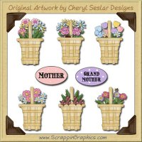 Flower Baskets Graphics Clip Art Download