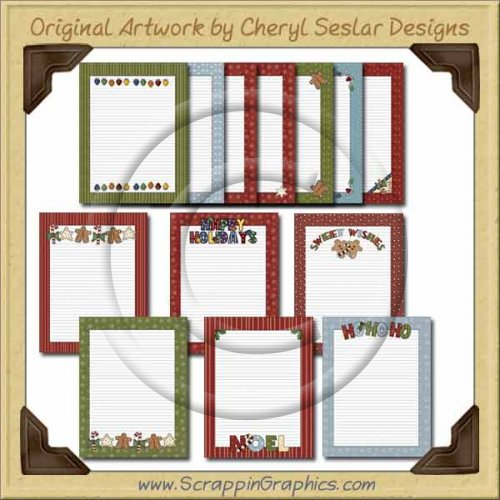 Christmas Stationary Graphics Clip Art Download