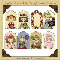 Pretty Girl Tags Collection Printable Craft Download