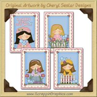 April Showers Card Sampler Collection Printable Craft Download
