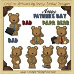 Father's Day Bears Collection Graphics Clip Art Download