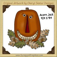 Acorn Jack Single Graphics Clip Art Download