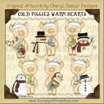 Cold Piggies Warm Heart Limited Pro Clip Art Graphics