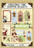 Christmas Time Scrappin' Delights Clip Art Graphics