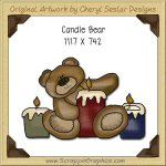 Candle Bear Single Graphics Clip Art Download