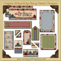 For The Birds Journaling Delights Digital Scrapbooking Graphics Clip Art Download