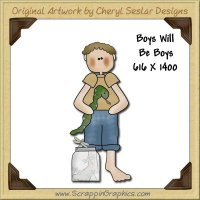 Boys Will Be Boys Single Graphics Clip Art Download