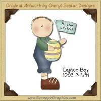 Easter Boy Single Graphics Clip Art Download