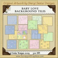 Baby Love Background Tiles Clip Art Graphics