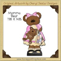 Momma Bear Single Clip Art Graphic Download