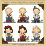 Rag A Muffins Collection Graphics Clip Art Download