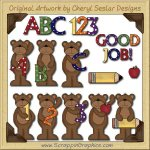 School Bears Collection Graphics Clip Art Download