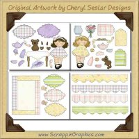 Tea Party Decoupage Limited Pro Printable Craft Collection Graph