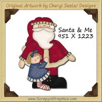 Santa & Me Single Graphics Clip Art Download