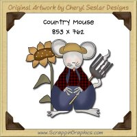 Country Mouse Single Graphics Clip Art Download