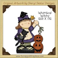 Whimsical Witchy Single Clip Art Graphic Download