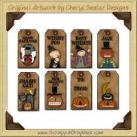 Happy Haunting Tags Collection Printable Craft Download