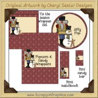 T'is The Season Wrapper Set Printable Craft Collection Graph