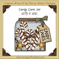 Candy Cane Jar Single Graphics Clip Art Download