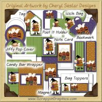 Happy Halloween Craft Kit Collection Graphics Clip Art Download