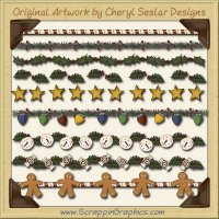 Christmas Dividers Clip Art Graphics Collection