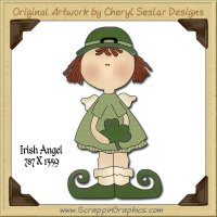 Irish Angel Single Graphics Clip Art Download
