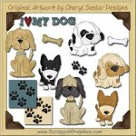Canine Cuties Collection Graphics Clip Art Download