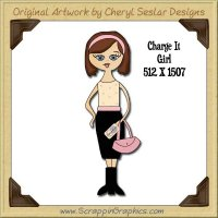 Charge It Girl Single Graphics Clip Art Download
