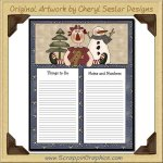 Annie & Snowman To Do Sheet Printable Craft Download