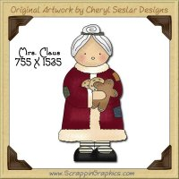 Mrs Claus Single Graphics Clip Art Download