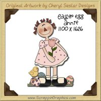 Easter Egg Annie Single Graphics Clip Art Download
