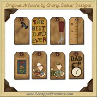 Dad Tags Collection Printable Craft Download