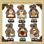 Country Bears Collection Graphics Clip Art Download