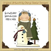 Snowflake Samantha Single Graphics Clip Art Download