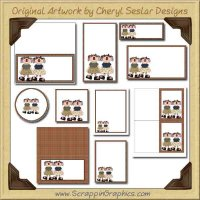 Raggedy Sisters Printable Pack Graphics Clip Art Download