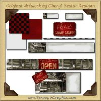 Ole Prim Shack Web Set Graphics Clip Art Download