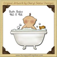Bath Baby Single Clip Art Graphic Download
