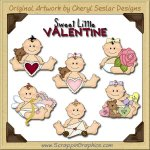 Sweet Baby Little Valentine Limited Pro Clip Art Graphics