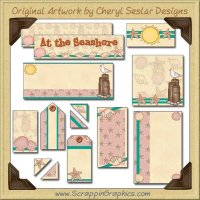 At The Beach Journaling Delights Digital Scrapbooking Graphics Clip Art Download