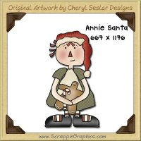 Annie Santa Single Graphics Clip Art Download