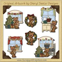 Raggedy Bears Deck The Halls Graphics Clip Art Download