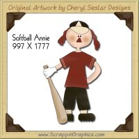 Softball Annie Single Graphics Clip Art Download