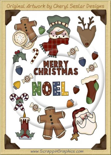 Reseller -Merry Christmas Sticker Page Clip Art Graphics