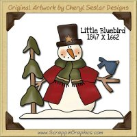 Little Bluebird Single Graphics Clip Art Download