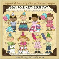 Bean Pole Kids Birthday Limited Pro Clip Art Graphics