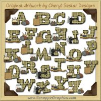 Sew True Alphabet & Numbers Clip Art Download