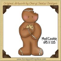 Mad Cookie Single Graphics Clip Art Download