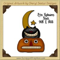 Prim Halloween Stack Single Graphics Clip Art Download