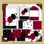 Sweet Ladybug Clipart & Craft Set Collection Graphics Clip A